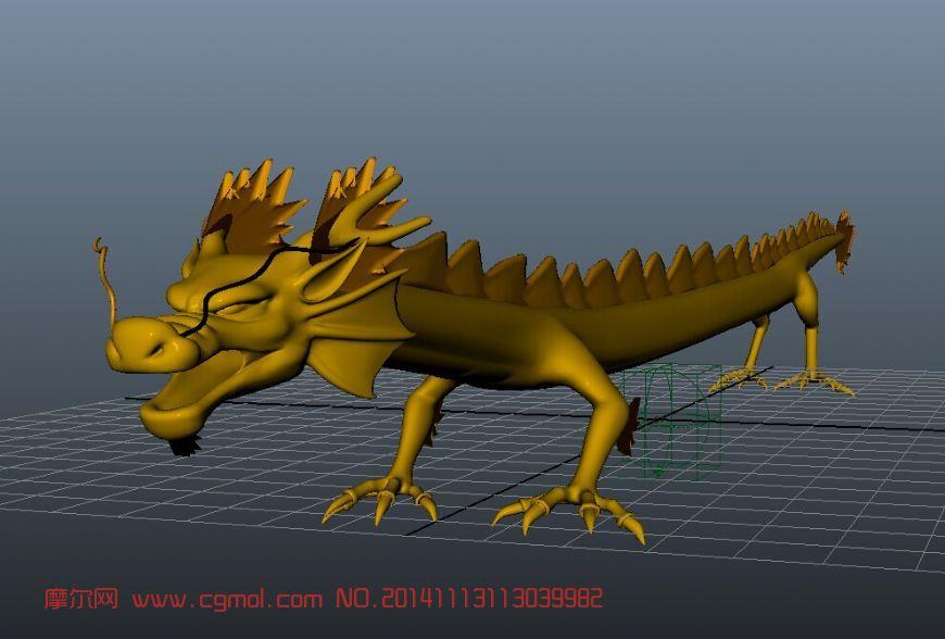 龙_其他_动物模型_3d模型免费下载_摩尔网www.cgmol.