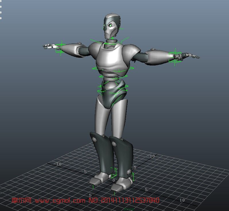 银色机器人