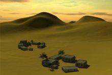 沙漠中的军事基地场景