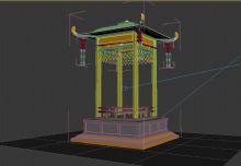 舍利塔古建筑模型