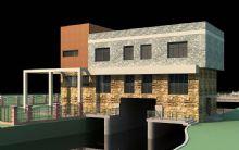 电排站,泵房建筑模型