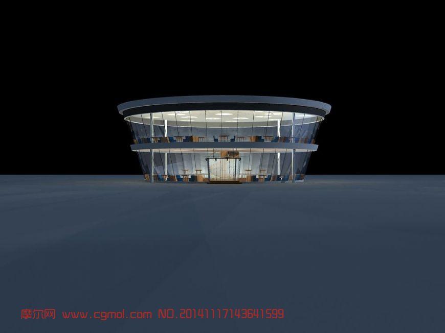 圆形咖啡厅_其他建筑_建筑模型