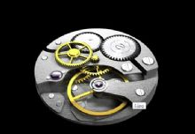 手表内部齿轮结构 有动画