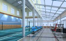 阳光健身厅 羽毛球场 排球场 网球场