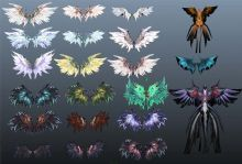 21款次时代游戏翅膀合辑模型