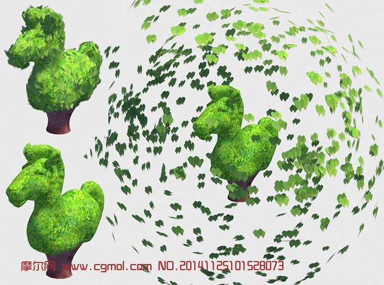 动画树木3d粗模