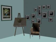 装饰画和椅子