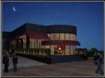 咖啡店夜景