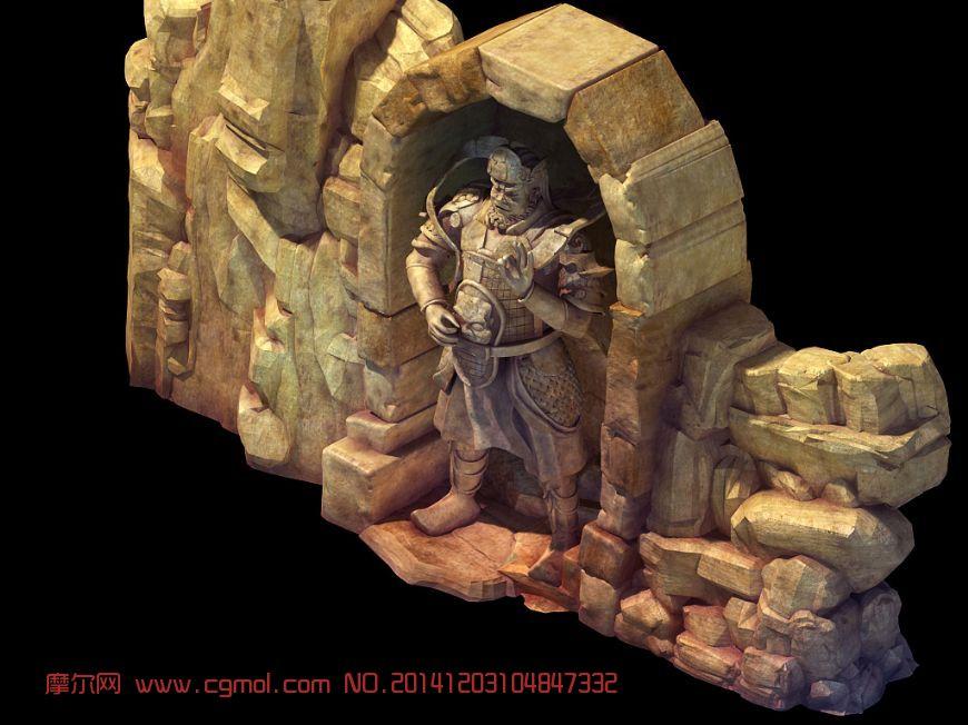 大型天王雕像