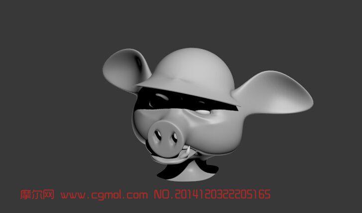 猪头_哺乳动物_动物模型
