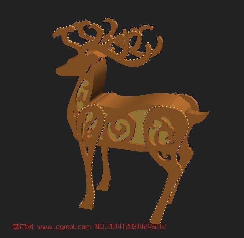 动物模型 爬行动物  关键词:鹿麋鹿