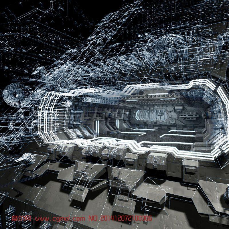 科幻外星基地 宇宙飞船
