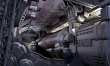 飞船内部场景,手打灯,渲染分层