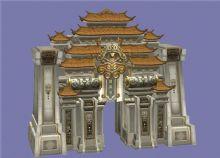 古洛阳城门3D模型