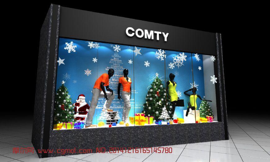 圣诞橱窗装饰