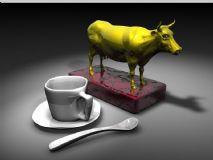 渲染实例咖啡杯和巨牛奖