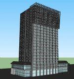 带中式元素的现代高层科技楼