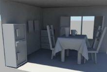现代室内桌椅柜子