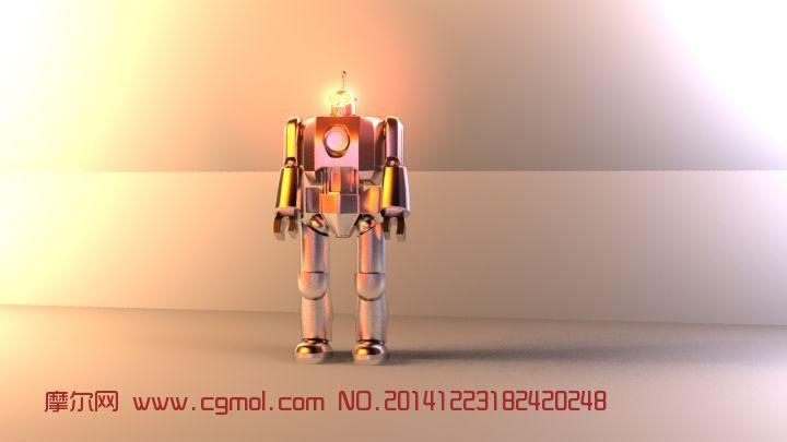 机器人无贴图无动画本人添加冷暖灯光带HDR