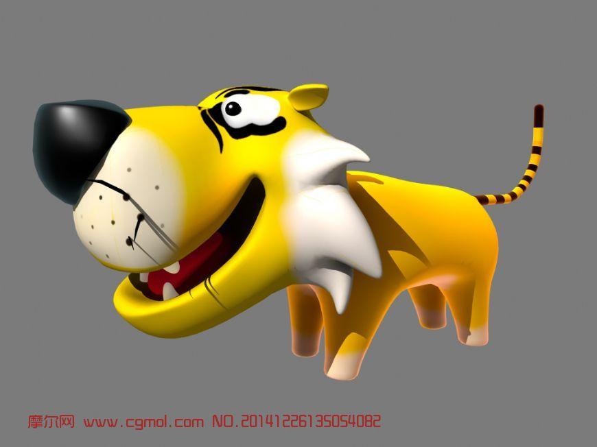 动物模型 哺乳动物  关键词:老虎卡通q版