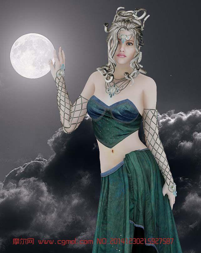 性感礼服-忧愁的美杜莎女神模型