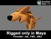 很少见的超Q鬣狗模型 带绑定哦 maya max都能用