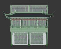 中式门楣仪门