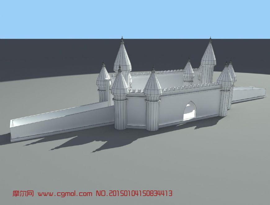 冰雪建筑-灰姑娘城堡