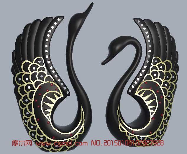 天鹅雕塑装饰