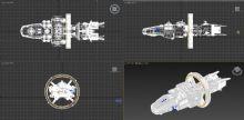 太空飞船,模型非常精细,稍稍贴图即可投入使用