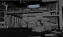 管道,残墙,废弃工厂,有细节,无贴图