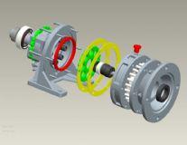 摆线针轮减速器(含全部90个零件)