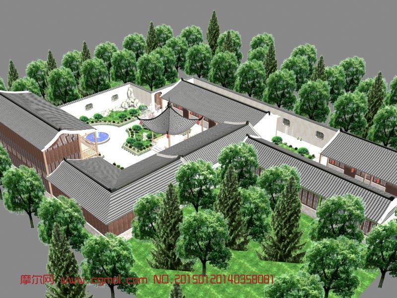 徽派建筑模型