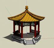 六角亭,传统园林建筑