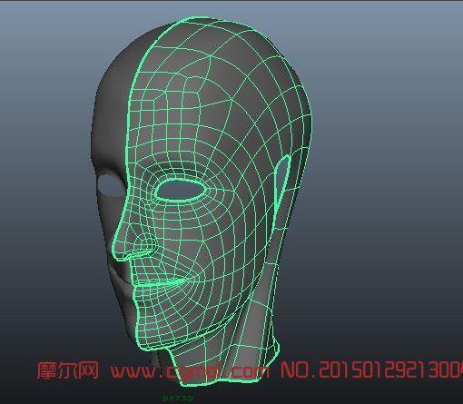 人头_基础人体_动画角色_3d模型免费下载_摩尔网