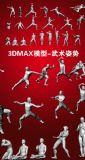 一套武术姿势动作3DMAX
