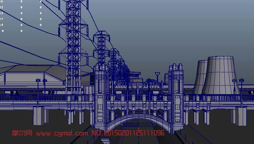 转载作品: 发电厂建筑漫游设计