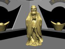 土豪金孔子雕像