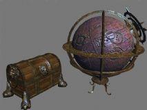 地球仪和宝箱