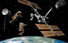 宇航员和卫星,空间站