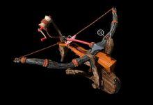 古战车弓弩带绑定和贴图的道具