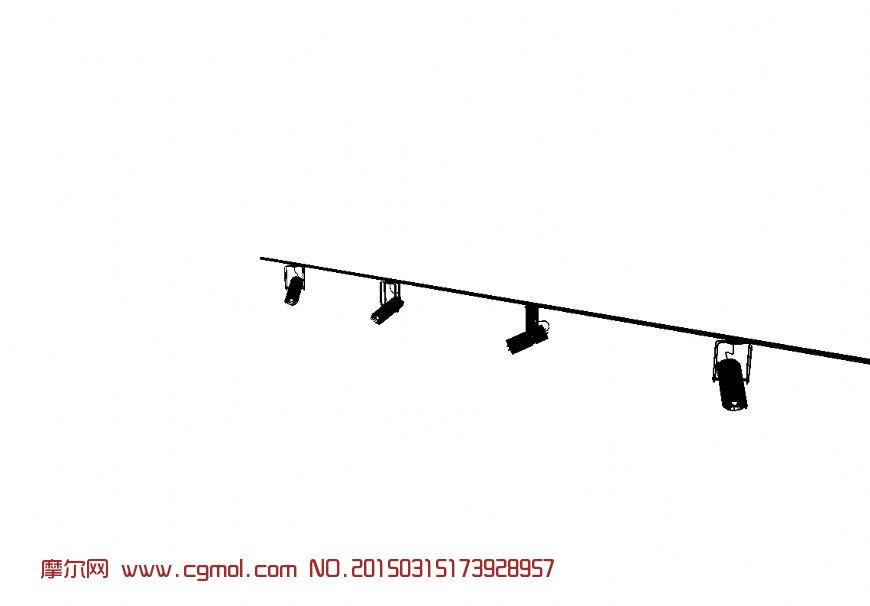 轨道灯3d模型