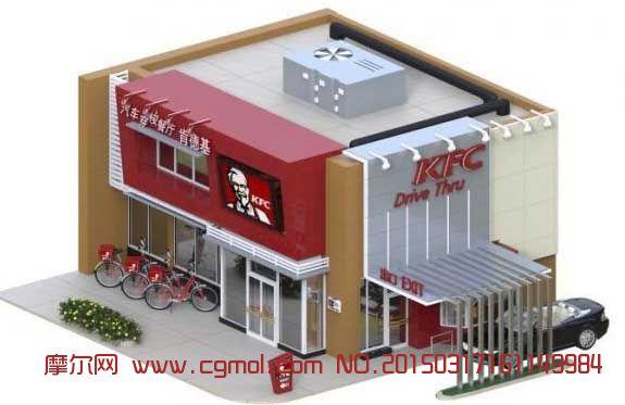 肯德基汽车穿梭餐厅3D模型(FBX格式)