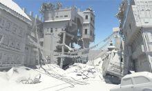 地震后城镇废墟场景maya模型