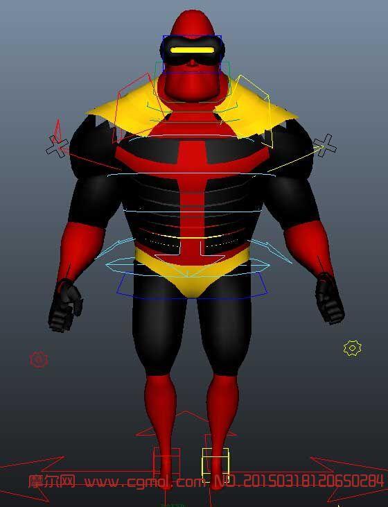 超人带绑定模型