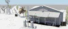 �S昏下的沙漠加油站�鼍澳P�