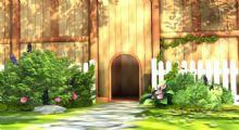 花丛栅栏漂亮场景