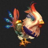 一个游戏的公鸡,带死亡,走路动画