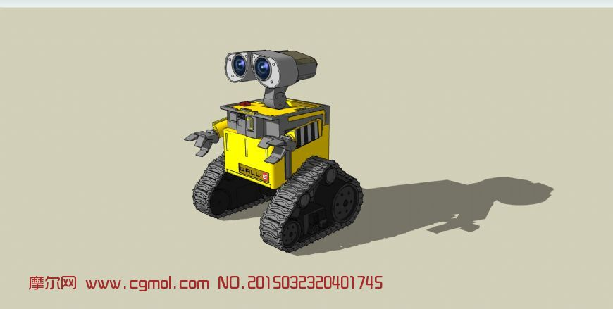 Wall-E卡通�C械模型