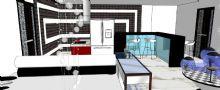 时尚客厅厨房